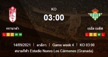 วิเคราะห์บอล [ ลาลีกา สเปน ] กรานาด้า VS เรอัล เบติส 13/09/2564